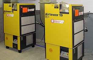 Compressed air reticulation units for auto workshops