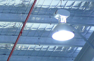 Workhop Service Lighting providing optimum illumination for high ceiling workshops