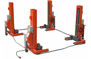 Mobile column lift EHB707 - Showing linked columns