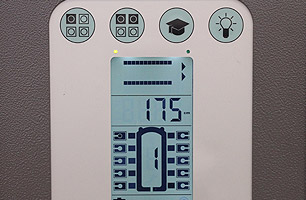 Operation panel with LCD display, indication of a lift set with 10 columns