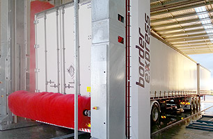 Hartex Washbay showing Truck Wash at Border Express depot