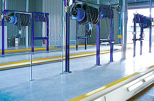 prefabricated workshop pits that come with a kerb angle for addition or inclusion of jacking systems